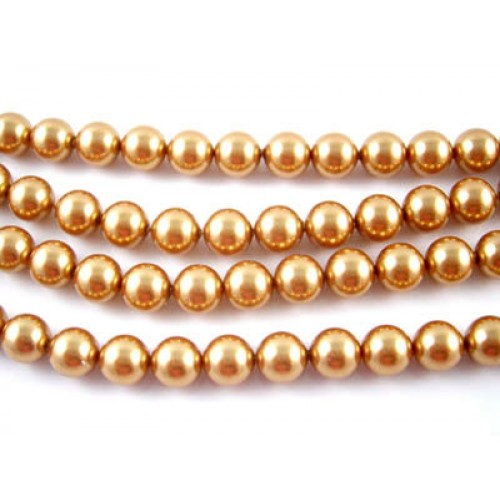 Swarovski Round Pearl 5810 Bright Gold Pearl 8mm - Each
